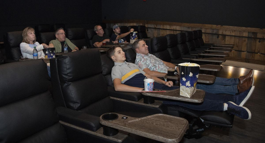 Leather reclining seats in all auditoriums